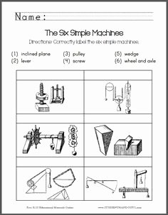 Simple Machines Worksheet Middle School Elegant Here S A Handout for K 1 On forces