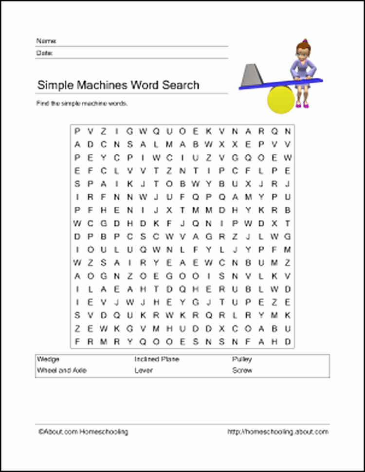 Simple Machines Worksheet Middle School Luxury Printables to Learn About Simple Machines