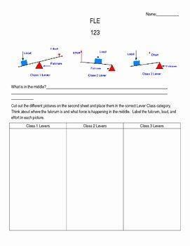 Simple Machines Worksheet Middle School New Simple Machines Levers Worksheet Fle123 by Miss Stem