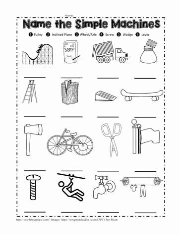Simple Machines Worksheet Pdf Awesome Simple Machine Quiz Worksheets