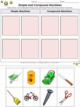 Simple Machines Worksheet Pdf Awesome Simple Machines Simple and Pound Machines Cut and