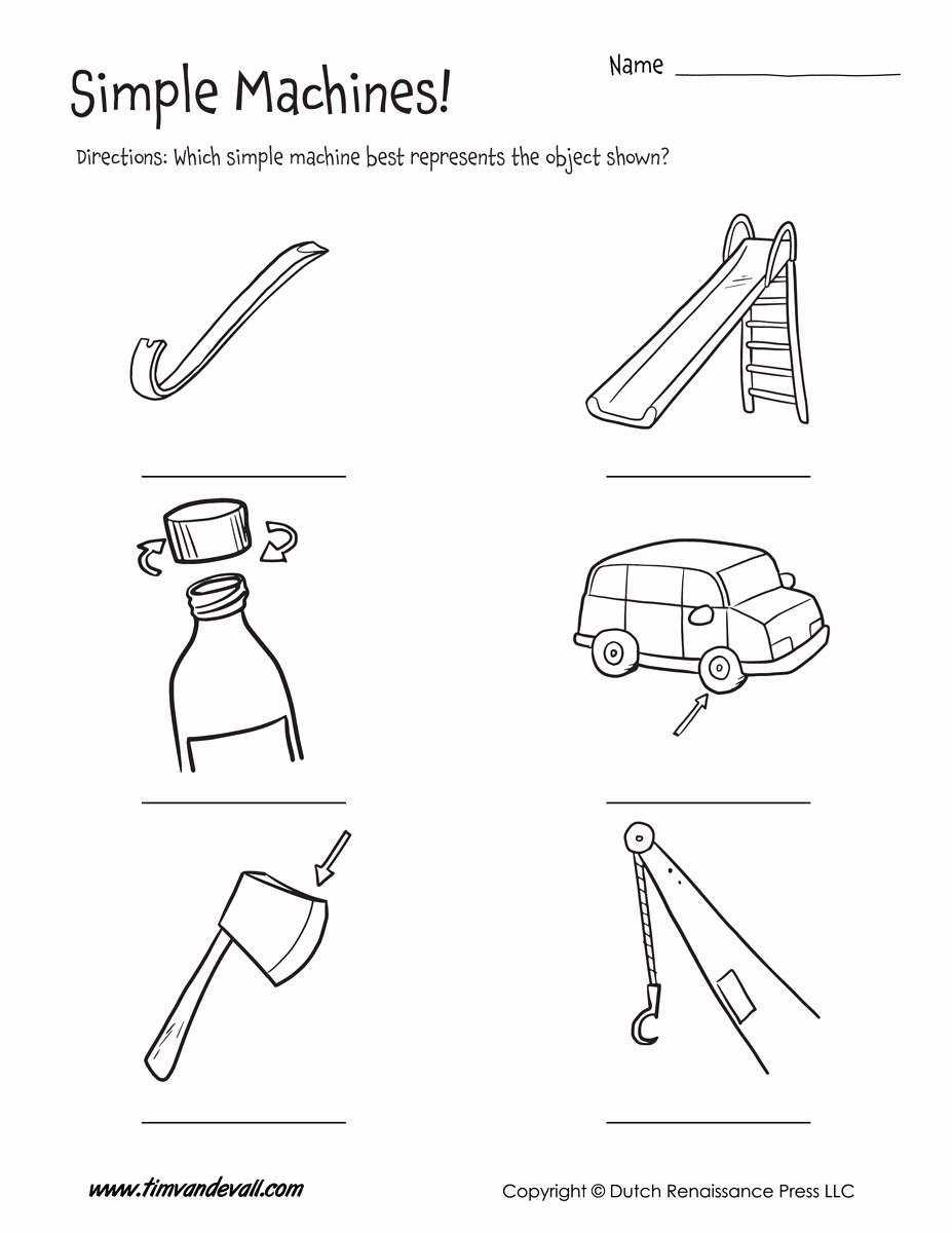 Simple Machines Worksheet Pdf Awesome Simple Machines Worksheet Tim S Printables