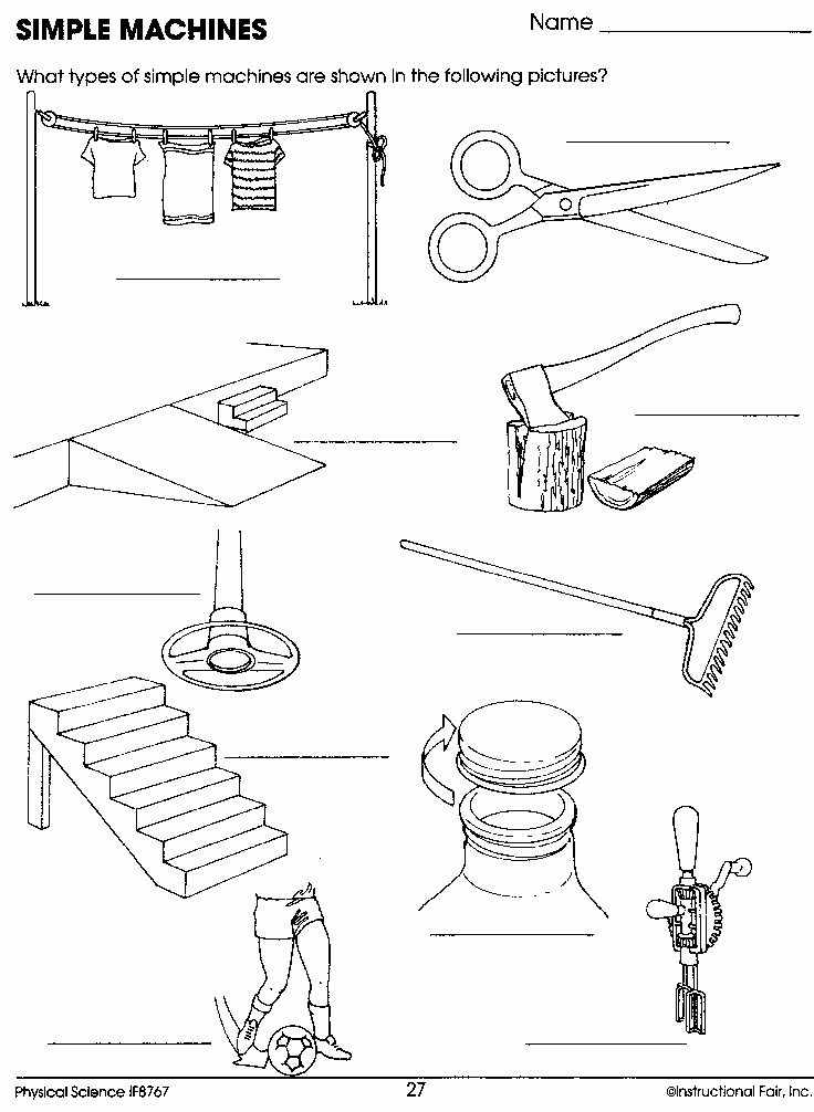 Simple Machines Worksheet Pdf Beautiful Simple Machines Worksheet Machines topic