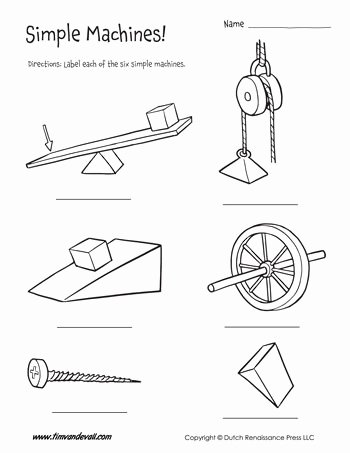 Simple Machines Worksheet Pdf Best Of Six Simple Machines Worksheet Tim S Printables