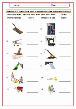 Simple Machines Worksheet Pdf Fresh Simple Machines Worksheet Test Exercises for G 4 6 by