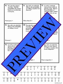 Simple Probability Worksheet Pdf Elegant Simple Probability Practice by Activities by Jill