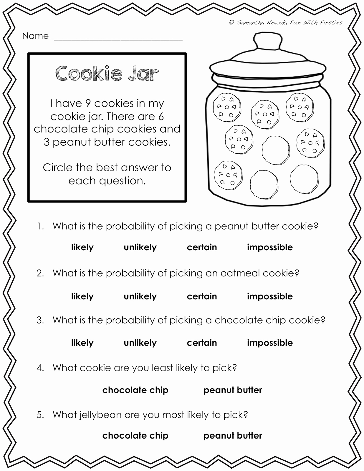 Simple Probability Worksheet Pdf Fresh Our Probability Unit Worksheets Activities Lessons and