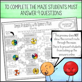 Simple Probability Worksheet Pdf Fresh theoretical Probability Of Simple events Maze with