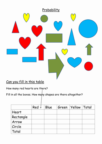 Simple Probability Worksheet Pdf Inspirational Low Ability Probability Worksheet Maths Ks2 Ks3 by