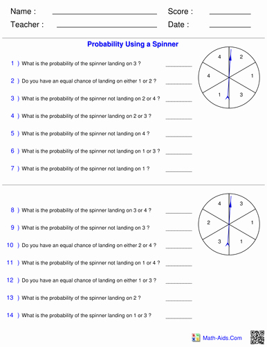 Simple Probability Worksheet Pdf Luxury Probability Full Lesson Powerpoint Worksheets by