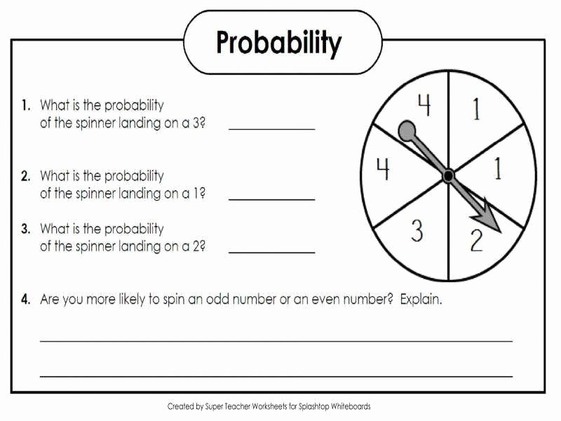 Simple Probability Worksheet Pdf New Simple Probability Worksheet