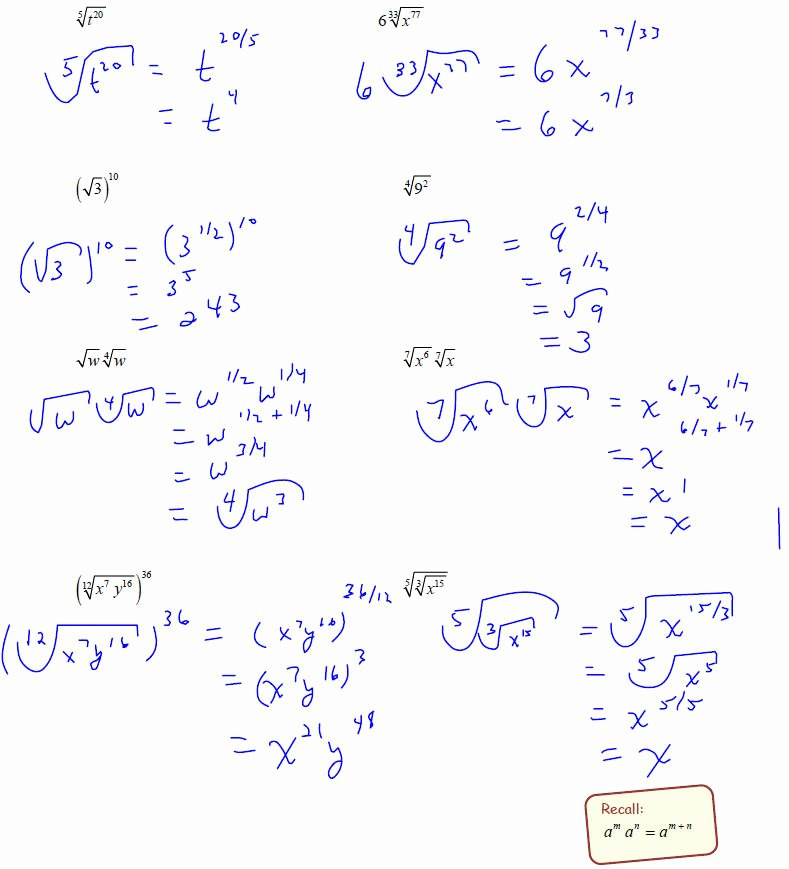 Simplify Exponential Expressions Worksheet Luxury Rational Exponents 5