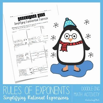 Simplify Exponential Expressions Worksheet New Rules Of Exponents Simplifying Exponential Expressions