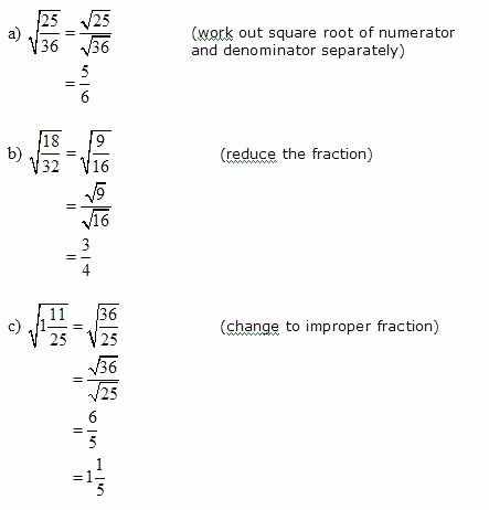 Simplify Square Root Worksheet New Simplify Square Roots that Have Fractions ️