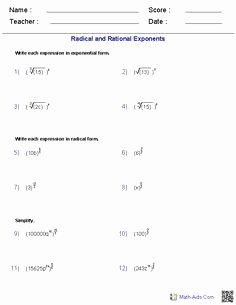 Simplify Square Roots Worksheet Elegant Simplifying Square Roots Worksheet Answers