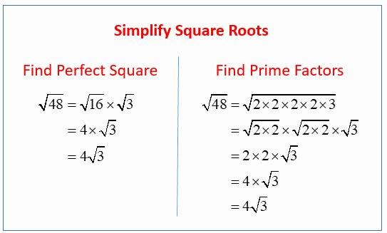 Simplify Square Roots Worksheet Elegant Simplifying Square Roots Worksheet