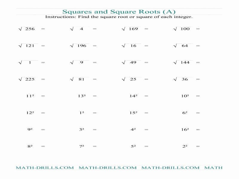 Simplify Square Roots Worksheet Luxury Simplifying Square Roots Worksheet