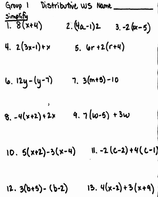 Simplifying Algebraic Expressions Worksheet Elegant Simplifying Algebraic Expressions Worksheet