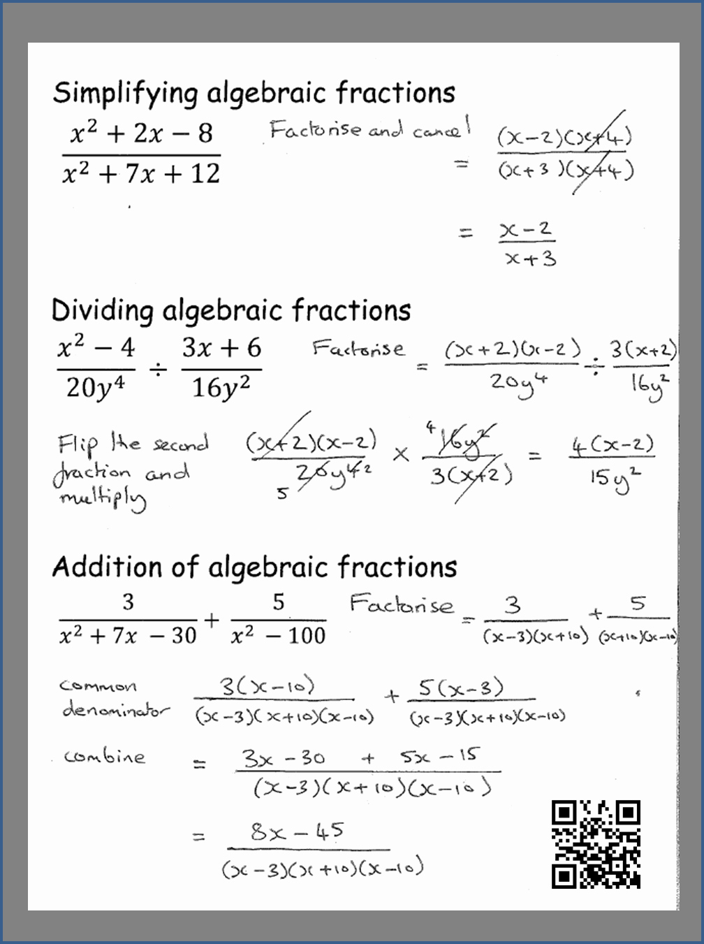 Simplifying Algebraic Fractions Worksheet Awesome How to Simplify Algebraic Fractions Gcse Maths