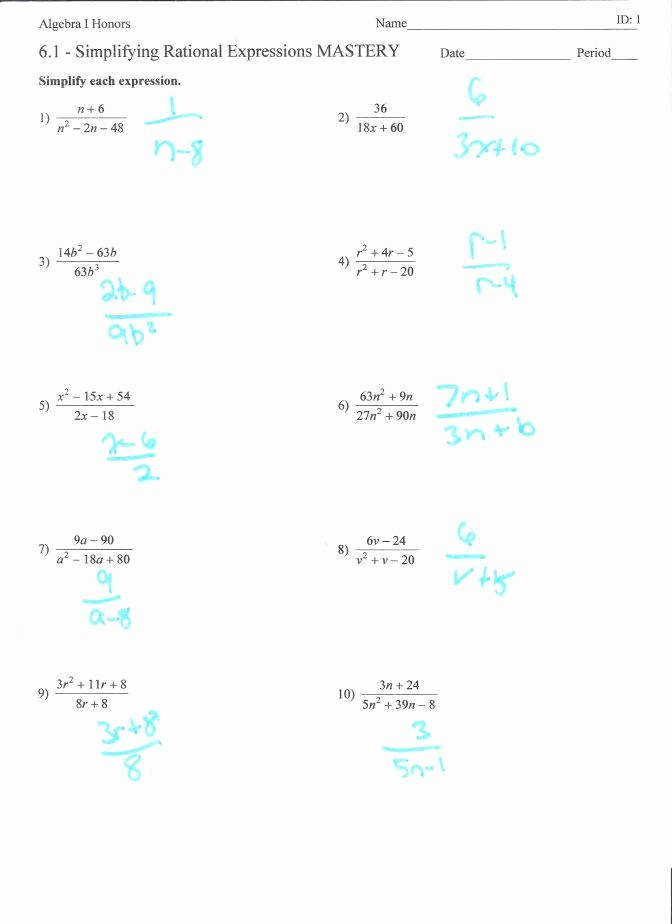 Simplifying Algebraic Fractions Worksheet Inspirational Simplifying Algebraic Expressions Worksheet