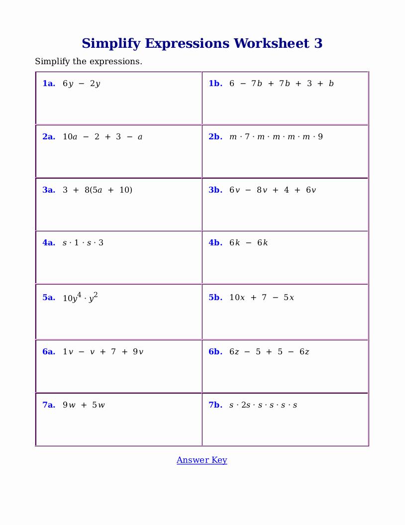Simplifying Algebraic Fractions Worksheet Lovely Homework Help Simplifying Algebraic Expressions Paper