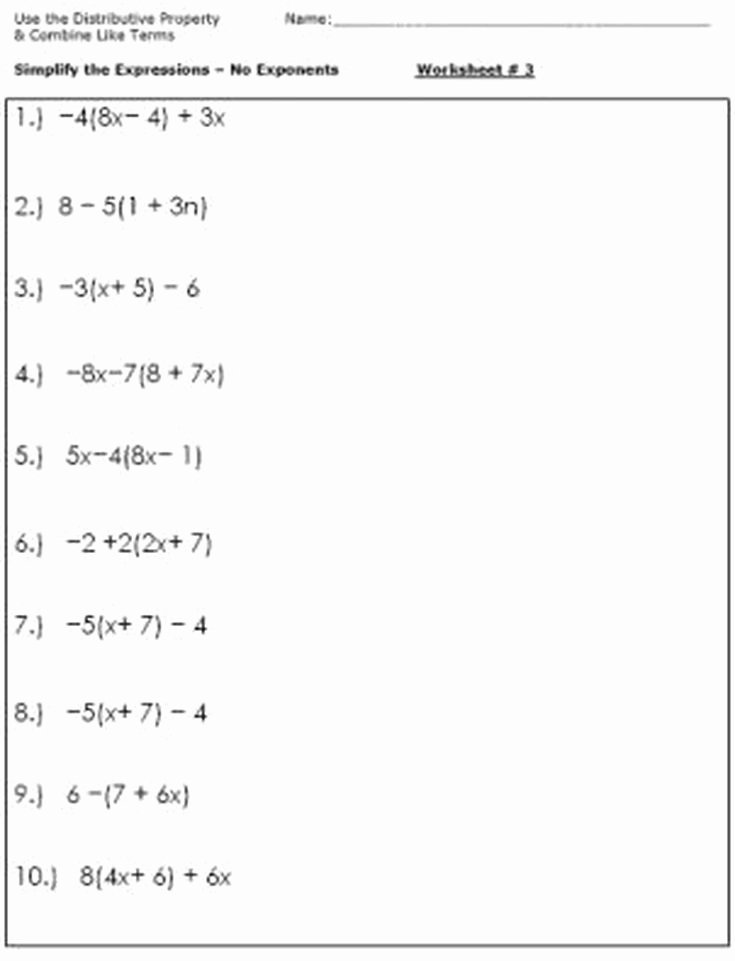 Simplifying Algebraic Fractions Worksheet Luxury Algebra Worksheets for Simplifying the Equation