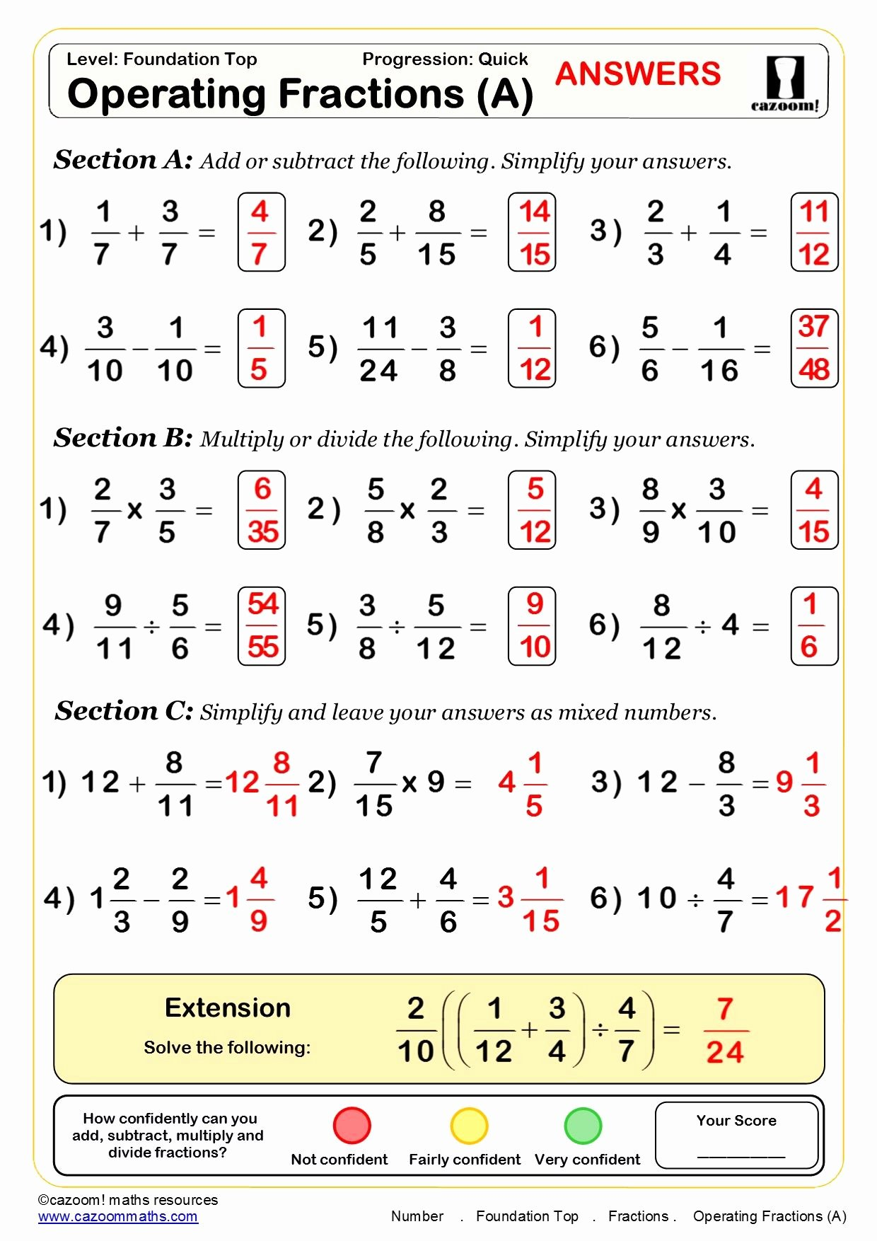 Simplifying Algebraic Fractions Worksheet New 30 Free Maths Worksheets Aashi