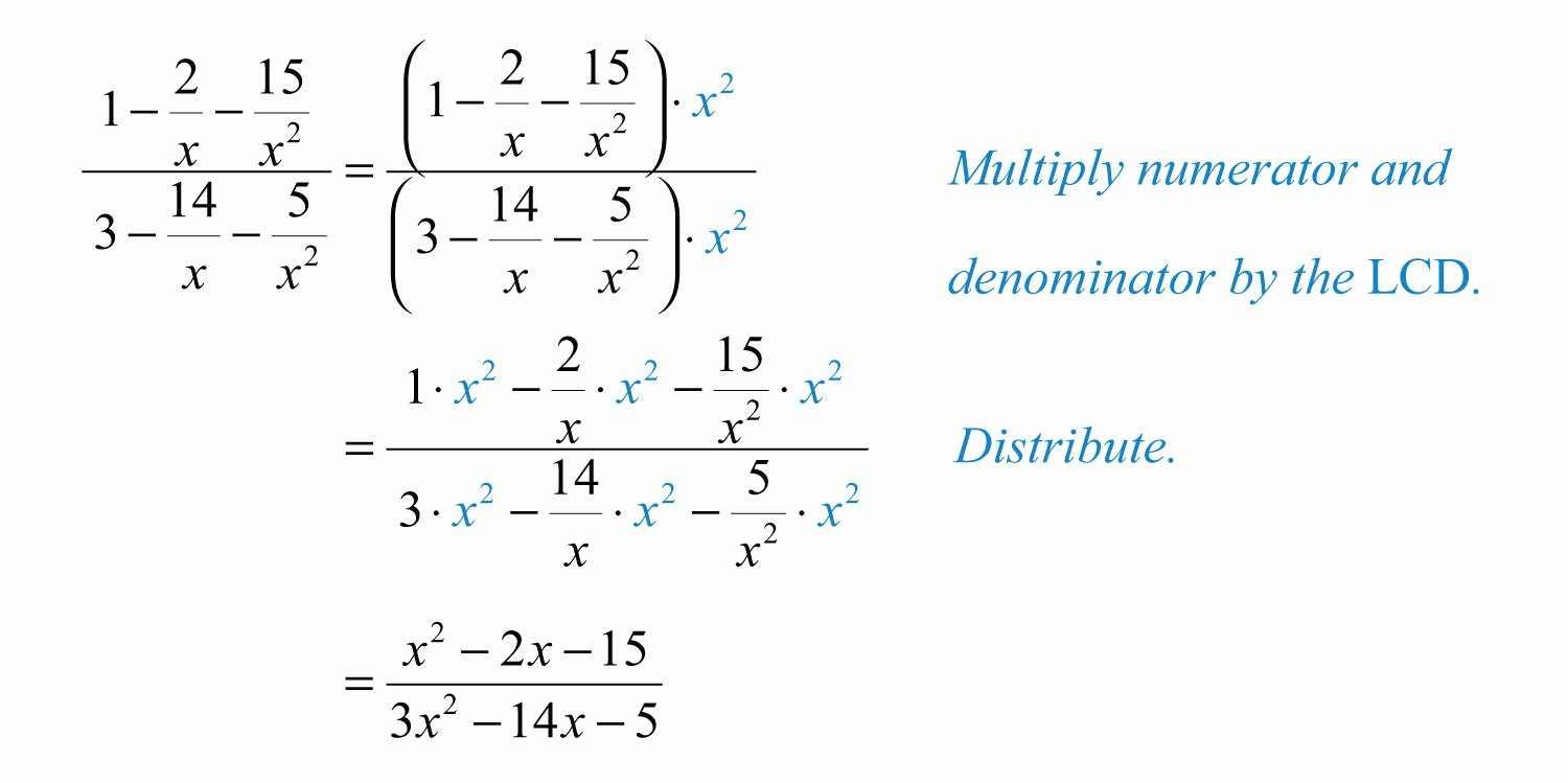 Simplifying Complex Fractions Worksheet Elegant Plex Rational Expressions