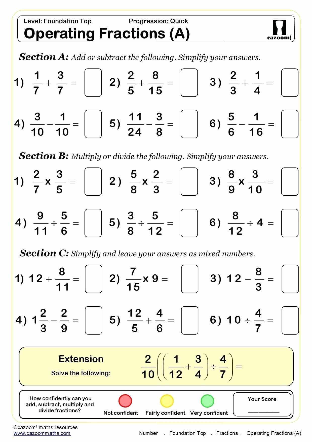 Simplifying Complex Fractions Worksheet Luxury Simplify Mixed Fractions