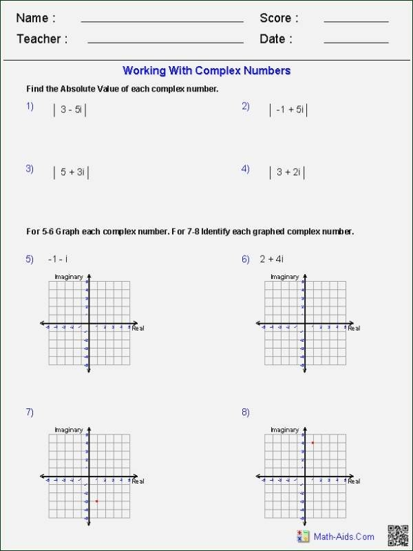 Simplifying Complex Numbers Worksheet Fresh Absolute Value Equations Worksheet