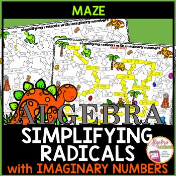 Simplifying Complex Numbers Worksheet Unique Simplifying Radicals with Imaginary Numbers Maze Activity