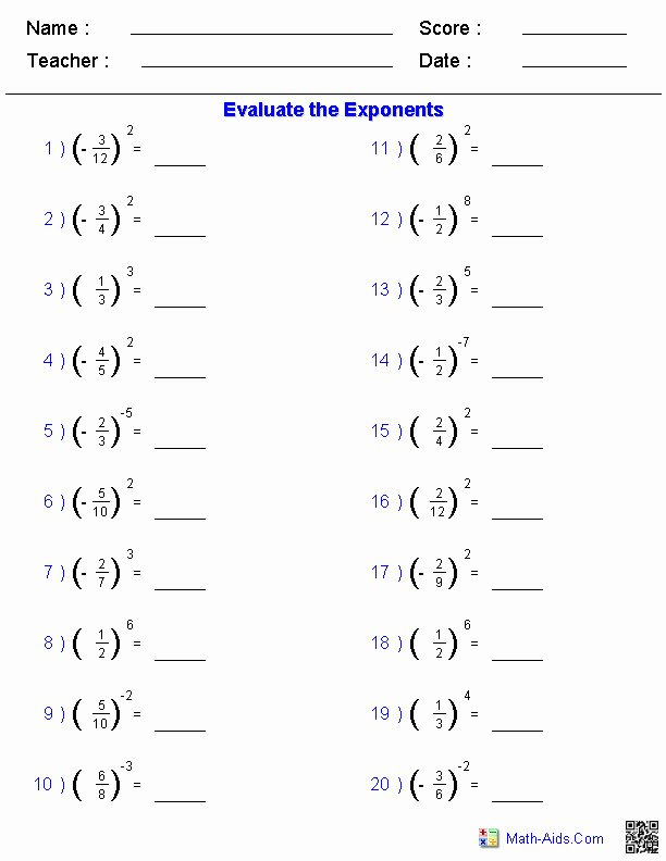 Simplifying Exponential Expressions Worksheet Beautiful Simplifying Exponents Worksheet