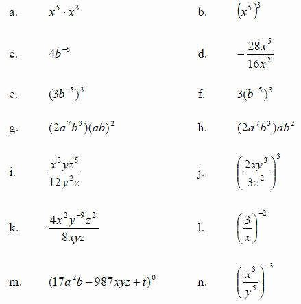 Simplifying Exponential Expressions Worksheet Elegant Exponents Worksheet
