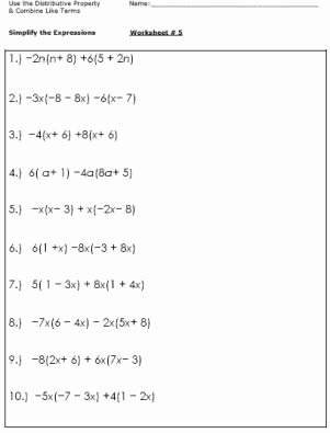 Simplifying Expressions Worksheet with Answers Inspirational Practice Simplifying Expressions with these Algebra