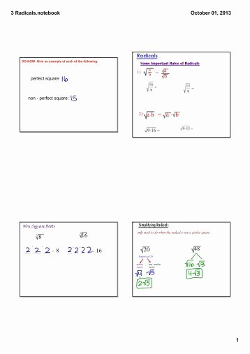 Simplifying Radicals with Variables Worksheet Awesome Simplifying Radicals Worksheet with Answer Key