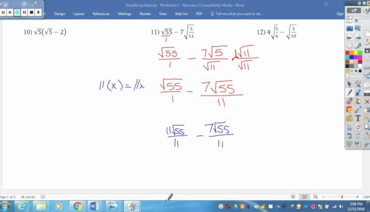 Simplifying Radicals Worksheet 1 Answers Beautiful the Best Template Of Simplifying Radicals Worksheet