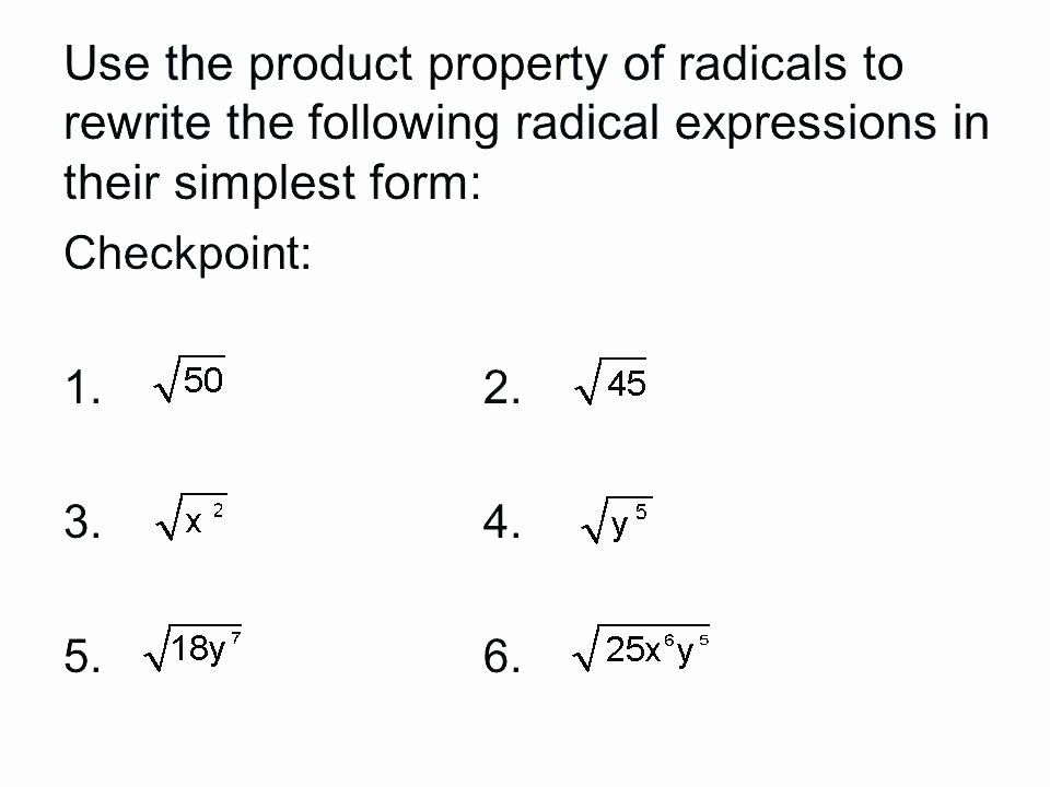 Simplifying Radicals Worksheet Algebra 1 Luxury Simplifying Radical Expressions Worksheet Algebra 2