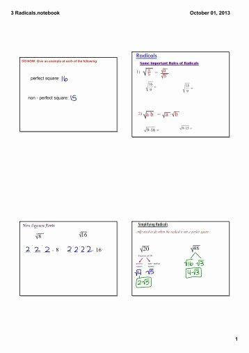 Simplifying Radicals Worksheet Answer Key Awesome Simplifying Radicals Worksheet with Answer Key
