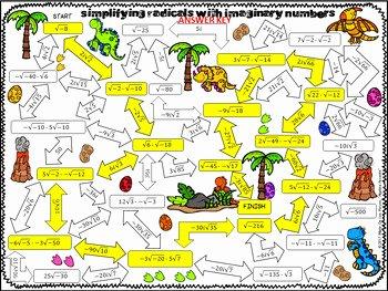 Simplifying Radicals Worksheet Answer Key Inspirational Simplifying Radicals with Imaginary Numbers Maze Activity