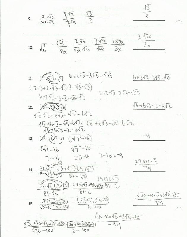 Simplifying Radicals Worksheet Answer Key New Simplifying Radical Expressions Worksheet Helping Times