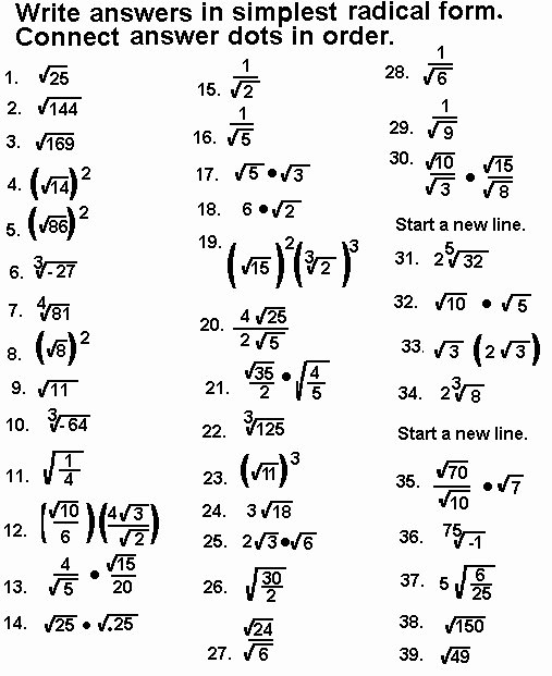 Simplifying Radicals Worksheet Pdf New Simplifying Radical Expressions Worksheet