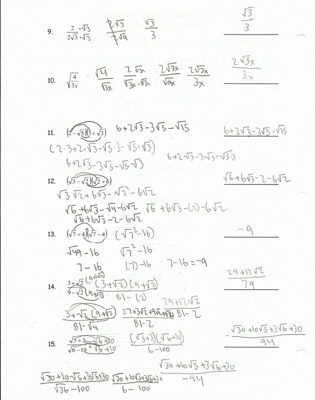 Simplifying Radicals Worksheet with Answers New Simplifying Radical Expressions Worksheet Helping Times