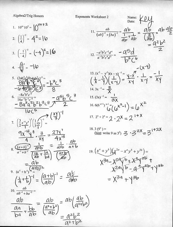 Simplifying Rational Exponents Worksheet Fresh 17 Best Of Simplifying Exponents Worksheet