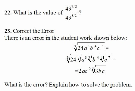 Simplifying Rational Exponents Worksheet Unique Rational Exponents Worksheet Pdf and Answer Key 24