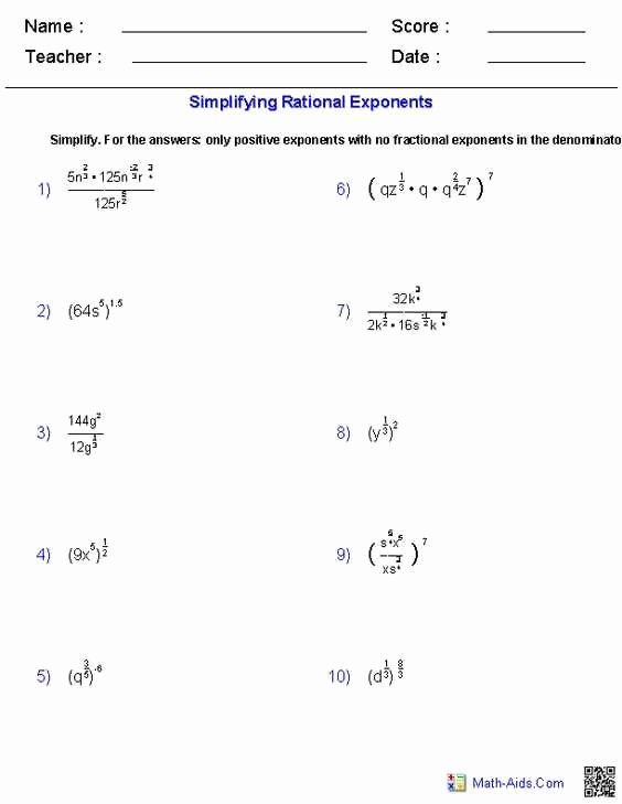 Simplifying Rational Expressions Worksheet Answers Elegant Simplifying Rational Expressions Worksheet Answers