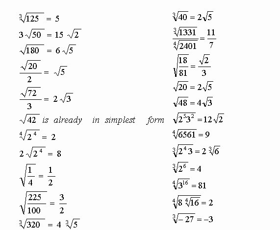 Simplifying Square Roots Worksheet New Simplify Radicals Worksheet