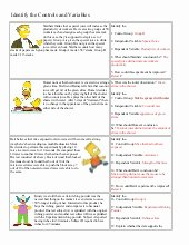 Simpsons Variables Worksheet Answers Beautiful Spongebob Controls Variables