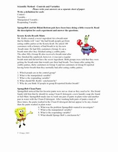 Simpsons Variables Worksheet Answers Elegant Spongebob Scientific Method Worksheets