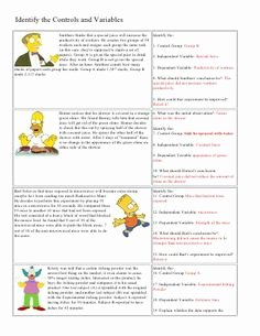 Simpsons Variables Worksheet Answers Fresh 1000 Images About Teaching Scientific Research to High