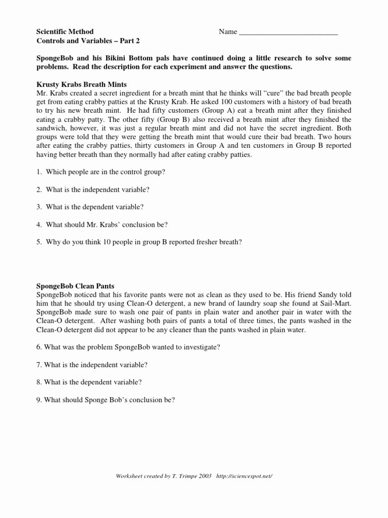 Simpsons Variables Worksheet Answers Inspirational Independent Dependent Variables Worksheet